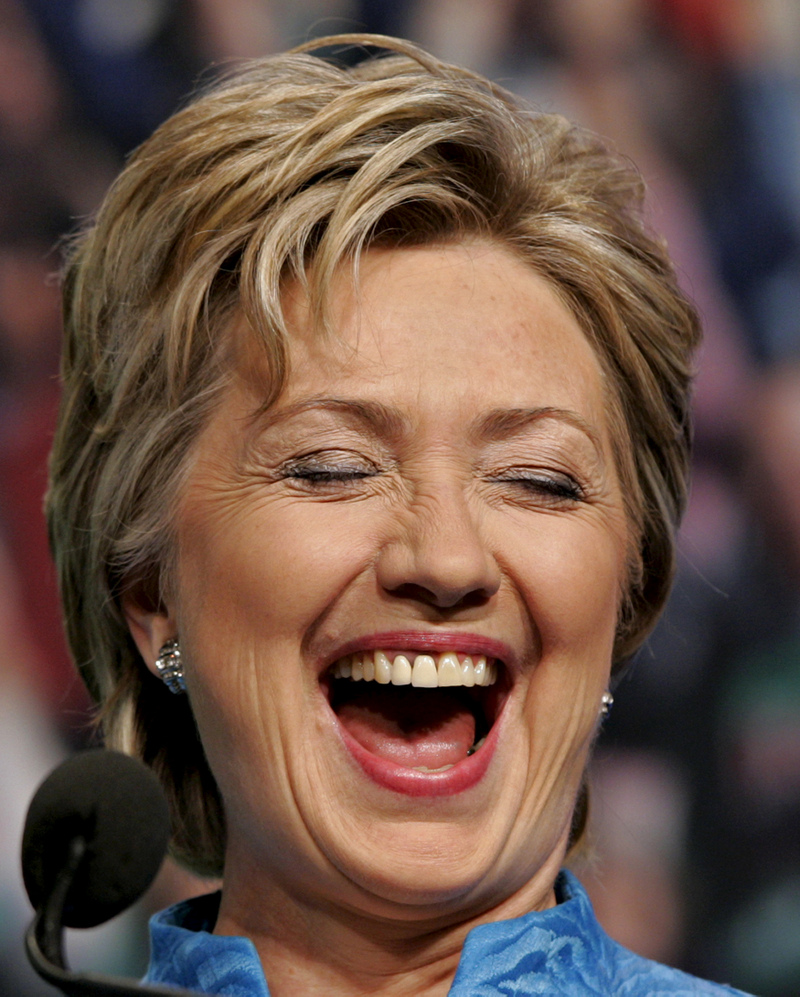 hillary horse laughing